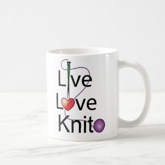 Caneca De Café Malha viva do amor