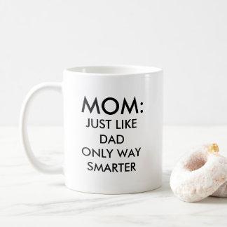 Caneca De Café Mamã: apenas como engraçado mais esperto da