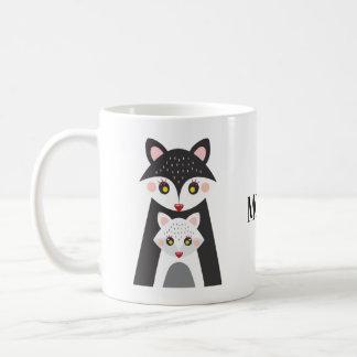 Caneca De Café Mamã bonito do Fox e copo de café da mãe do bebê