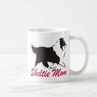 Caneca De Café Mamã de Sheltie do Sheepdog de Shetland