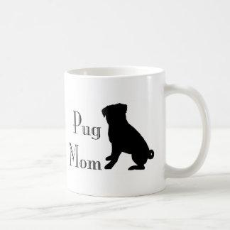 Caneca De Café Mamã extravagante do Pug
