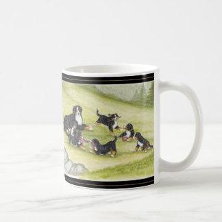 Caneca De Café Mamã & filhotes de cachorro