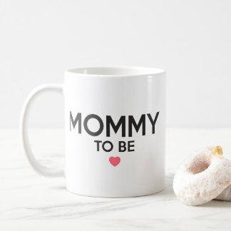 Caneca De Café Mamães a ser impressão bonito