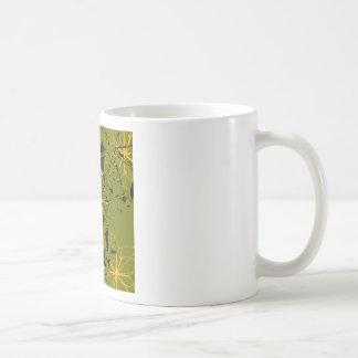 Caneca De Café Manchas douradas do abstrato das pétalas