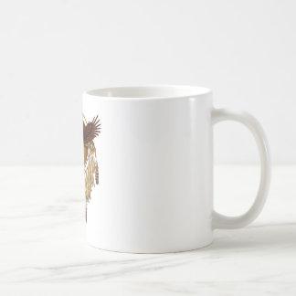 Caneca De Café Mandala da águia americana - revisada