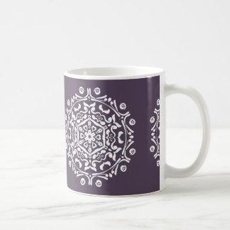 Caneca De Café Mandala da ameixa
