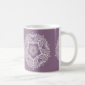 Caneca De Café Mandala das glicínias