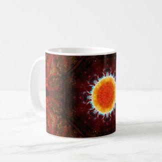 Caneca De Café Mandala de queimadura de Sun