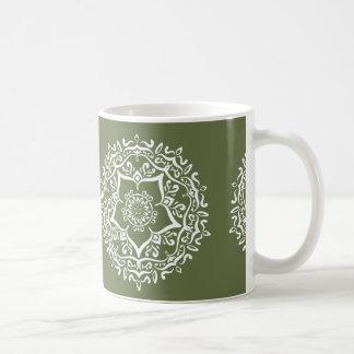 Caneca De Café Mandala do musgo