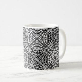 Caneca De Café Mandala preta & branca 2 do espelho