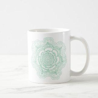 Caneca De Café Mandala verde