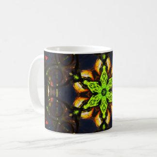 Caneca De Café Mandala verde da estrela