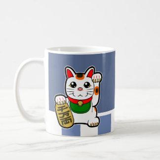 Caneca De Café Maneki Neko: Gato afortunado japonês