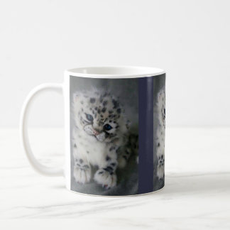 Caneca De Café Manhã com o jogo do leopardo de neve