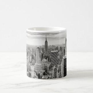 Caneca De Café Manhattan, New York (panorama preto & branco)