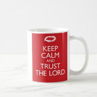 Caneca De Café Mantenha a calma e confie o senhor