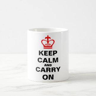 Caneca De Café Mantenha a calma e continue