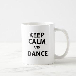 Caneca De Café Mantenha a calma e dance
