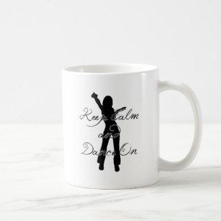 Caneca De Café Mantenha a calma e dance sobre