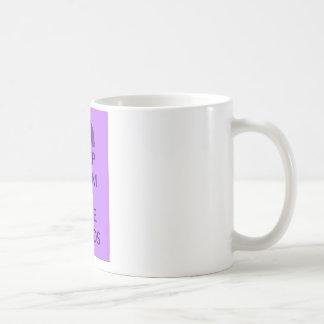 Caneca De Café Mantenha a calma e o design de Hippotamus dos