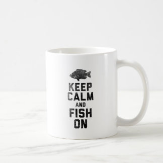 Caneca De Café Mantenha a calma e pesque-a sobre