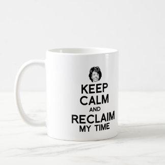 Caneca De Café Mantenha a calma e recupere meu tempo -