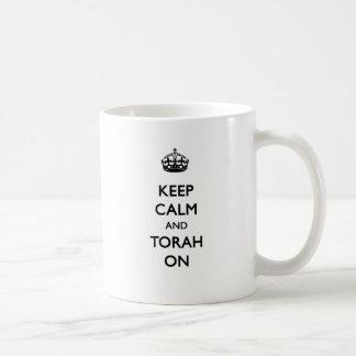 Caneca De Café Mantenha a calma & o Torah sobre