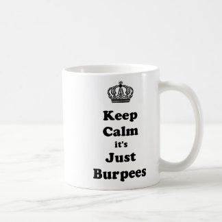 Caneca De Café Mantenha a calma que é apenas Burpees