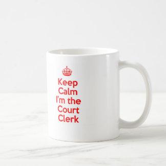 Caneca De Café Mantenha a calma que eu sou o caixeiro de corte no