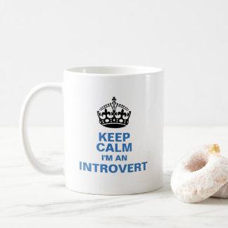 Caneca De Café Mantenha a calma que eu sou um introvertido