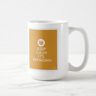 Caneca De Café mantenha a calma seu ramadan-ouro
