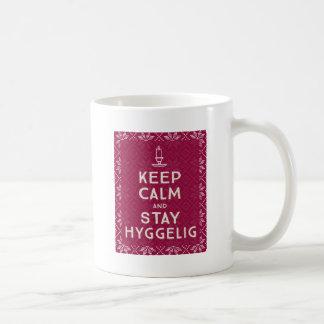 Caneca De Café Mantenha calmo e estada Hyggelig