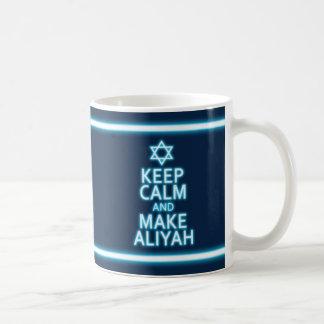 Caneca De Café Mantenha calmo e faça Aliyah