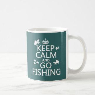 Caneca De Café Mantenha calmo e vá pescar