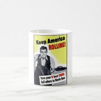 Caneca De Café Mantenha o rolamento de América