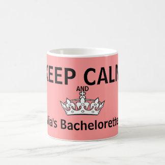 Caneca De Café Mantenha o rosa calmo de Bachelorette