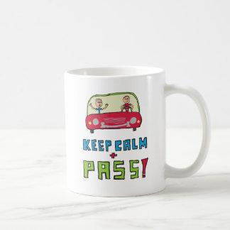 Caneca De Café Mantenha o teste de condução calmo