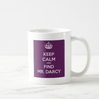 Caneca De Café Mantenha Sr. Darcy Jane Austen calmo e do achado