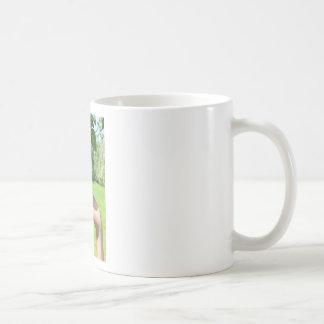 Caneca De Café Mão que mostra o ramo com suspensão de peras