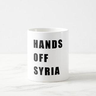 Caneca De Café Mãos fora de Syria