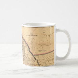 Caneca De Café Mapa 1841 noroeste pacífico de Oregon do vintage