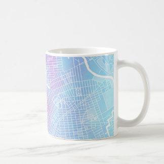 Caneca De Café Mapa #1 de New York
