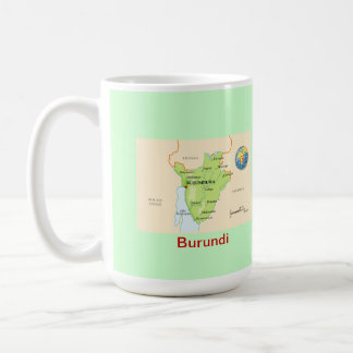 Caneca De Café Mapa & bandeira de Burundi