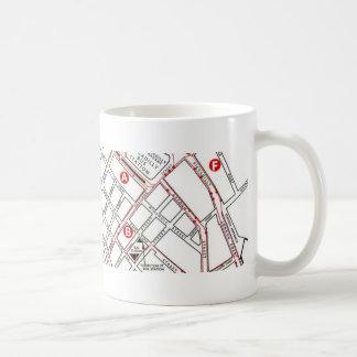 Caneca De Café Mapa central de Manchester