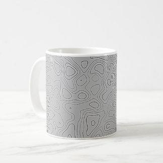 Caneca De Café Mapa cinzento da altura