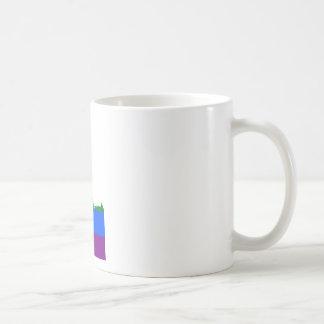 Caneca De Café Mapa da bandeira de Idaho LGBT