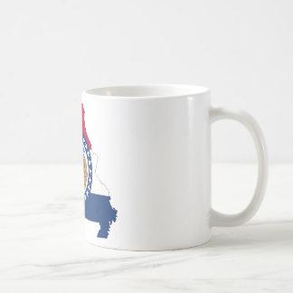 Caneca De Café Mapa da bandeira de Missouri
