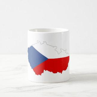Caneca De Café mapa da bandeira de país da república checa