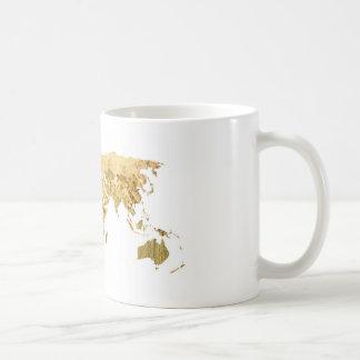 Caneca De Café Mapa da folha de ouro