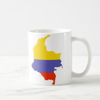 Caneca De Café Mapa de Colômbia
